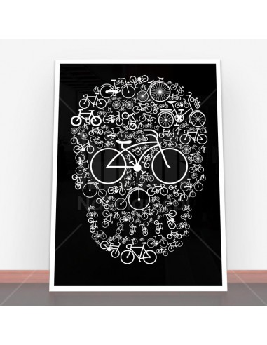 Plakat Bicycle Skull