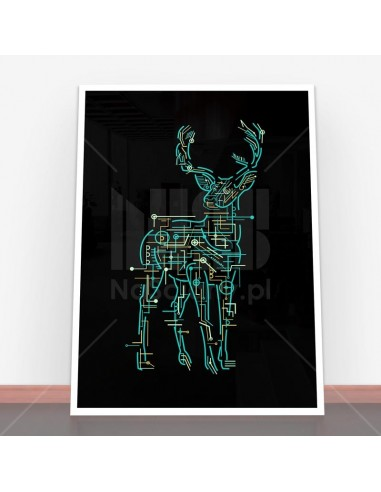 Plakat Electric Deer