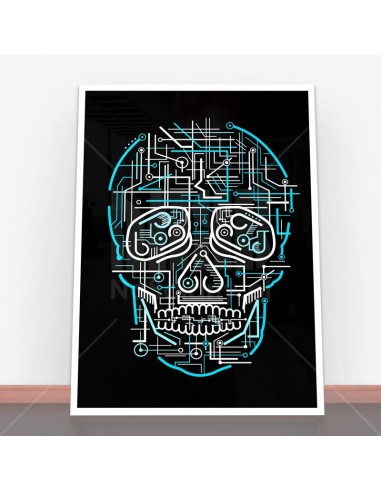 Plakat Electric Skull