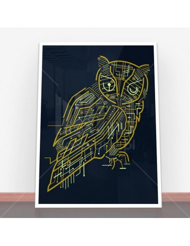 Plakat Electrical Owl