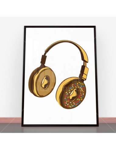 Plakat Headphone Donut