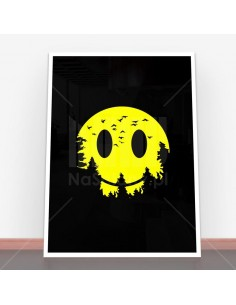 Plakat Smiley Moon