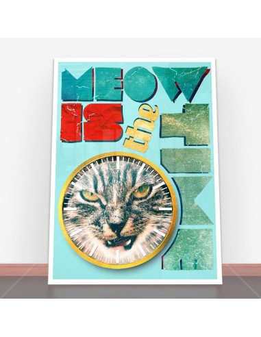 Plakat Meow Is The Time