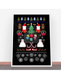 Plakat Pixelated Christmas