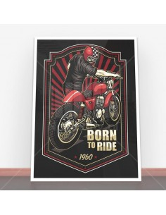 Plakat Born to Ride Vintage