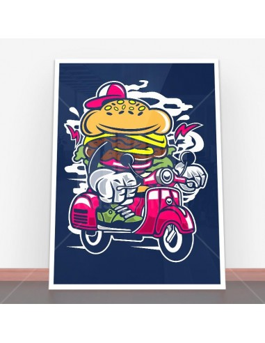Plakat Burger Scooter