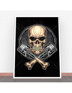 Plakat Cross Bones Piston