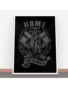 Plakat Home Is Where