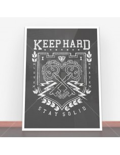 Plakat Keep Hard