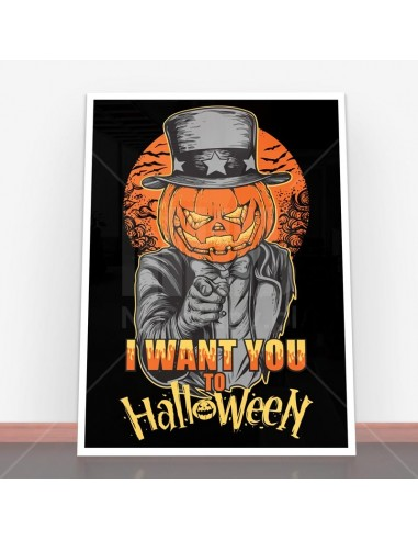 Plakat I Want You to Halloween