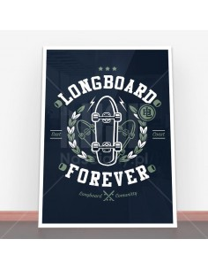 Plakat Long Board Forever