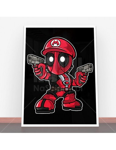 Plakat Mario Deadpool