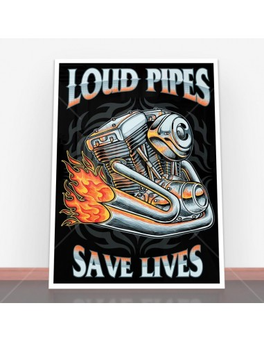 Plakat Load Pipes Save Live