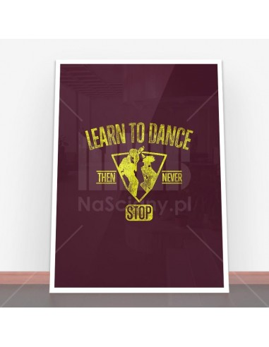 Plakat Learn to dance