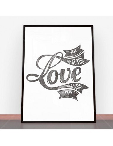 Plakat Love typography