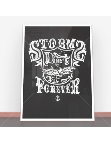 Plakat Storms don't last forever