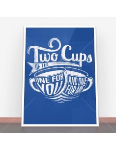 Plakat Two cups of tea