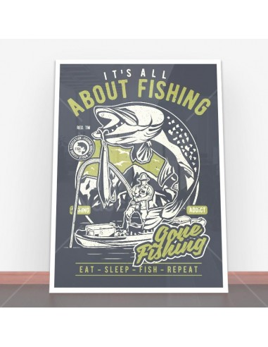 Plakat All About Fishing