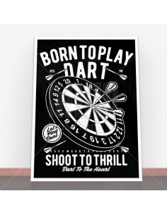Plakat Born To Play Dart