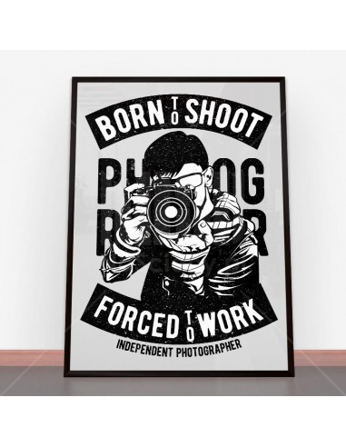 Plakat Born To Shoot