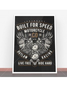 Plakat Built For Speed Motorcycle