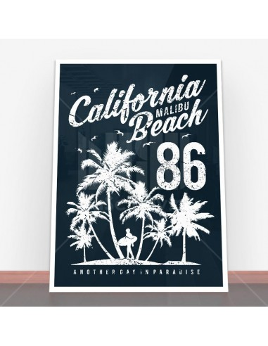 Plakat California Malibu Beach