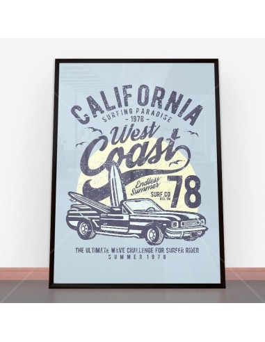 Plakat California West Coast