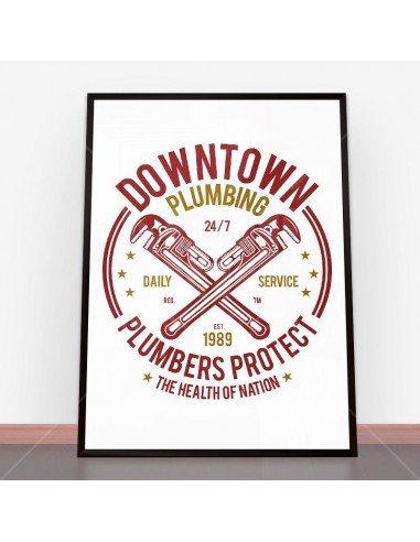 Plakat Downtown Plumbing