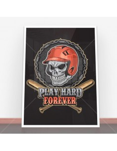 Plakat Play Hard Forever