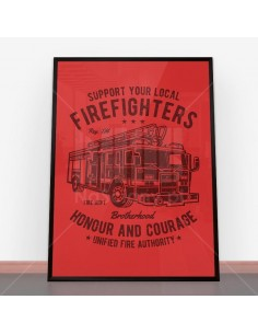 Plakat Fire Fighters Truck