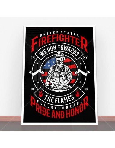 Plakat Firefighter