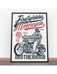 Plakat Firefighters Motorcycle