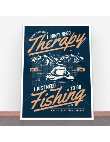 Plakat Fishing Therapy