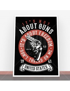 Plakat It's About Freedom
