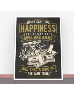 Plakat Money Can't Buy Happiness