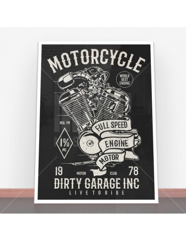 Plakat Motorcycle Full Speed Engine