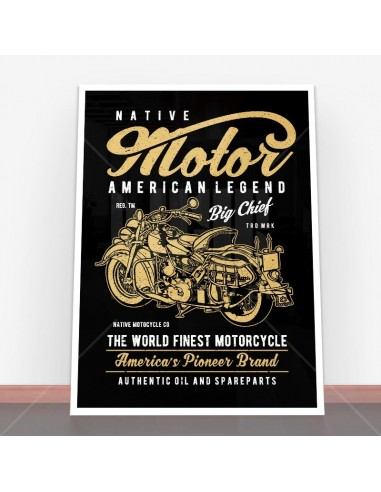 Plakat Native Motorcycle