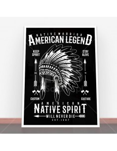 Plakat Native Warrior