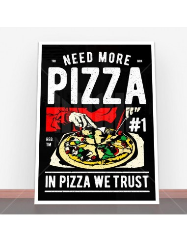 Plakat Need More Pizza