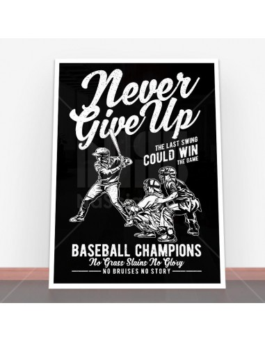 Plakat Never Give Up