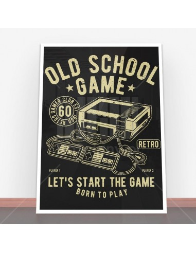 Plakat Old School Game