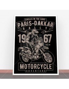 Plakat Paris Dakkar Rally Motorcycle