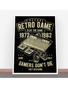 Plakat Retro Game