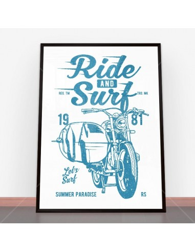 Plakat Ride And Surf