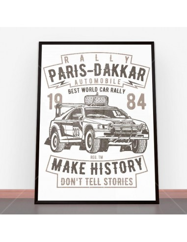Plakat Rally Paris Dakar Automobile