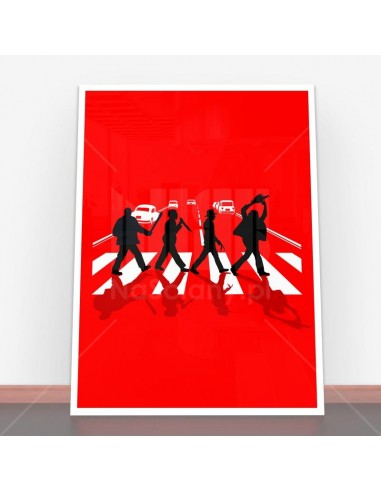 Plakat Abbey Road Killer Red